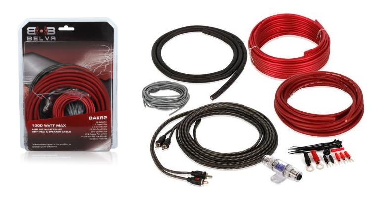 Product image of the Belva BAK82 amplifier wiring kit