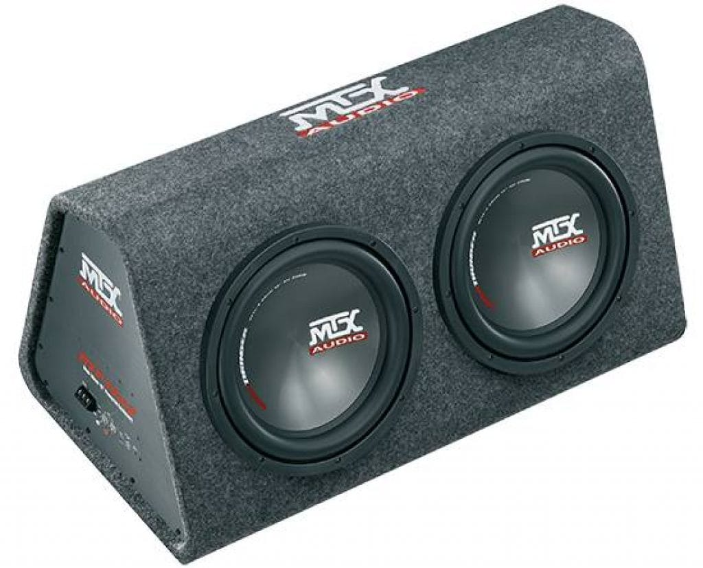 Image of MTX subwoofers in an enclosure