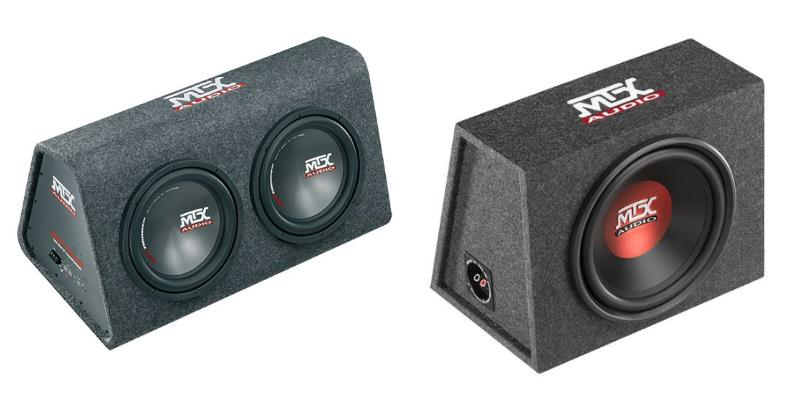 Example loaded car subwoofer enclosures
