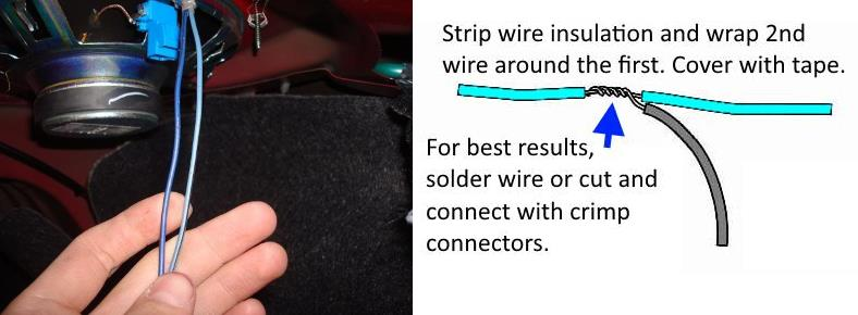 Image showing car speaker wiring tap how to