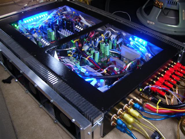 Image of Marty's custom chip amp car amplifier