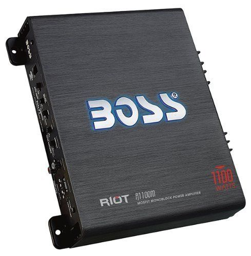 Boss R1100M amp angle view