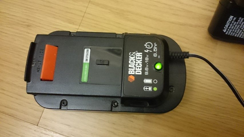 Black and Decker GC018-2 cordless drill battery charging
