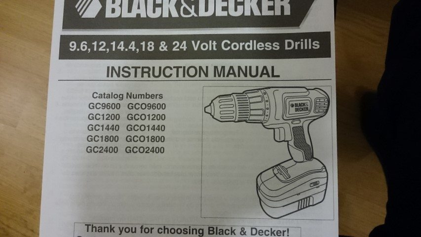 Black and Decker GC018-2 owner's manual