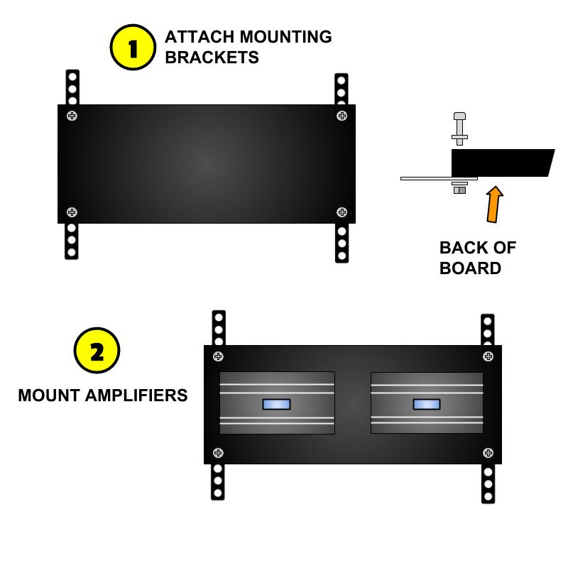 DIY car amp rack assembly diagram