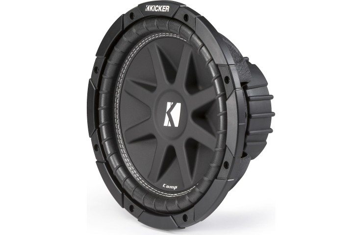 Kicker Comp Series 43C124 subwoofer angle view