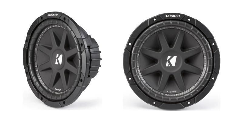 Kicker 43C214 front and side product image