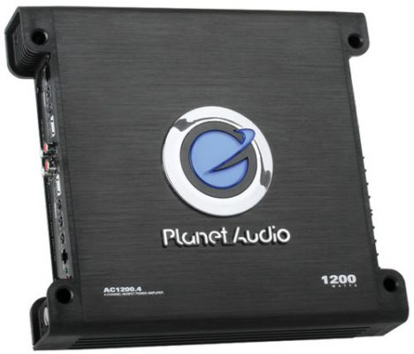 Planet Audio AC1200.4 amp angle view