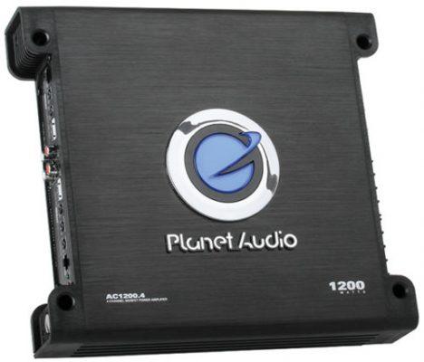 Planet Audio AC1200.4 amp angle view