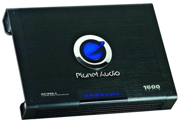 Planet Audio AC1600.4 amp angle view