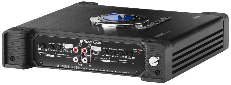 Planet Audio AC800.4 4 channel amp end view 2
