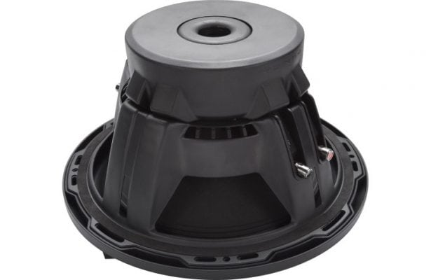 "Rockford Fosgate P2D4-12 12"" subwoofer inverted view"