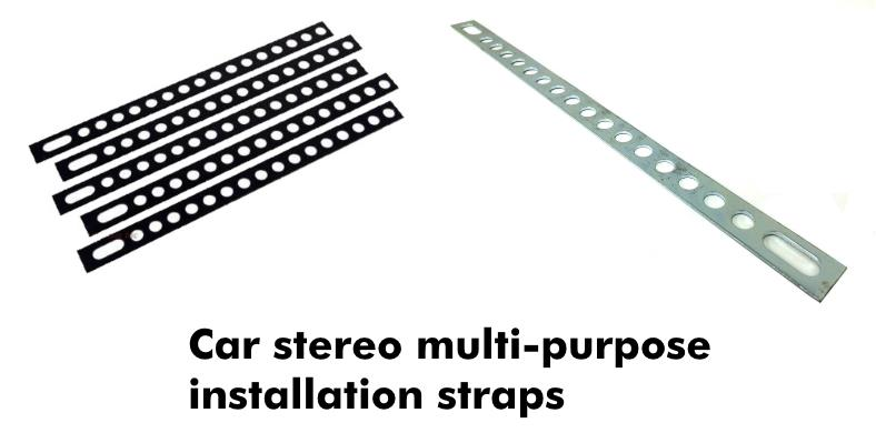 car stereo radio installation metal straps examples image