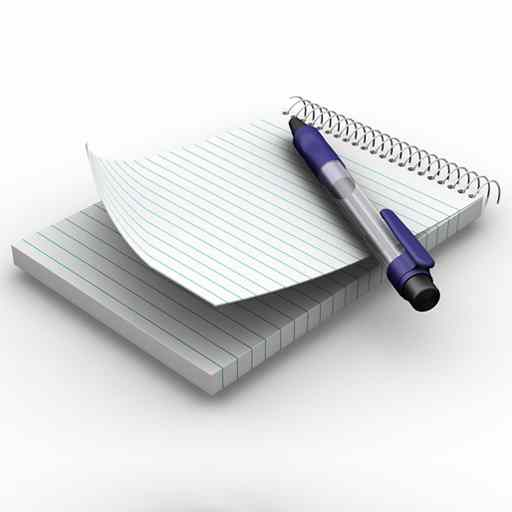 Notepad with pen image