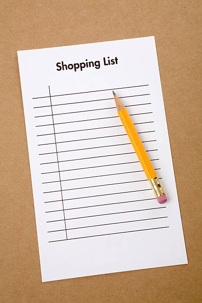 Image of a shopping list
