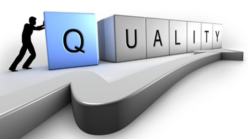 Image with representation of quality
