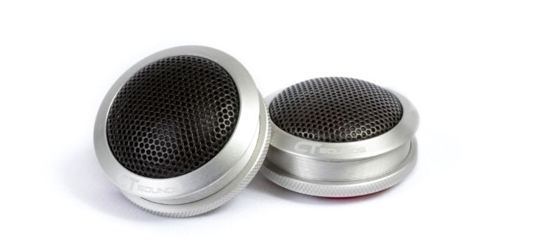 Front facing image of CT Sound Meso aluminum car tweeters