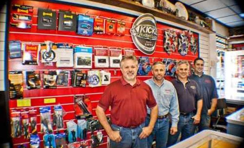 Image of car stereo shop salesmen