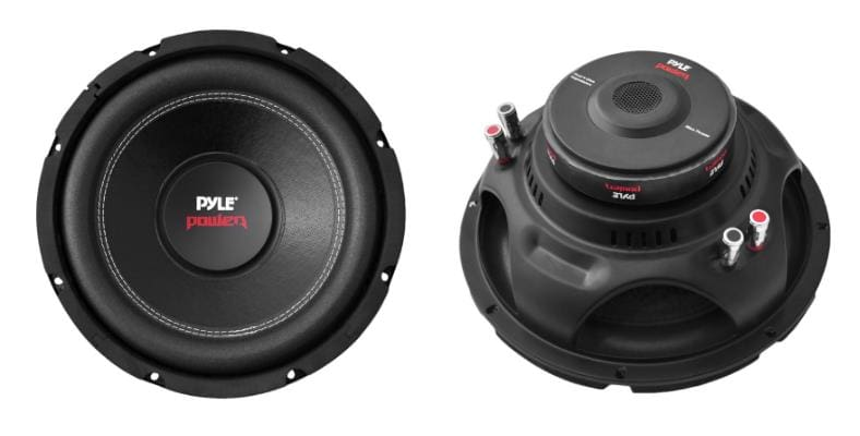 Pyle Power PLPW10D subwoofer front and rear view images