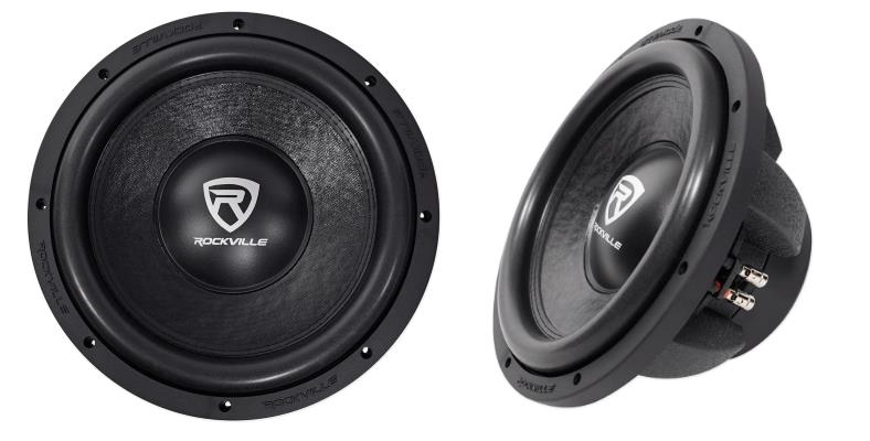 Rockville W12K6D4 car subwoofer front and side product views #1