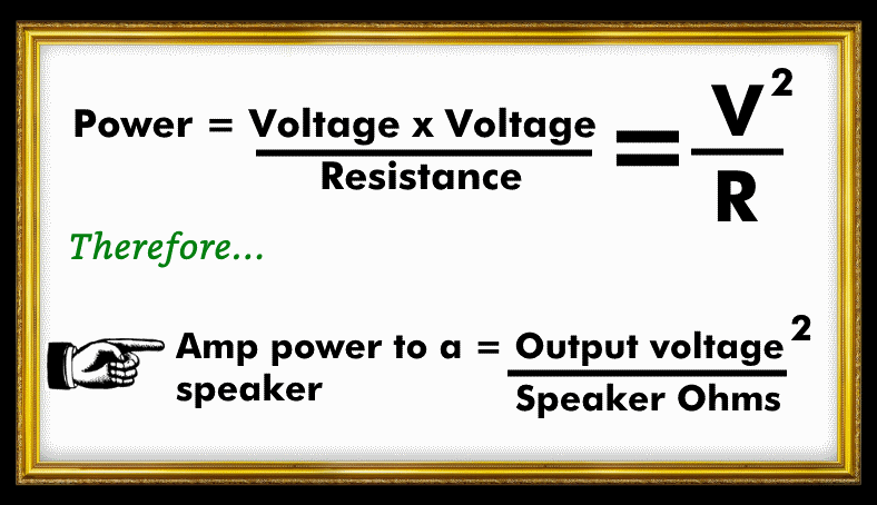 Car amplifier power output formulas image