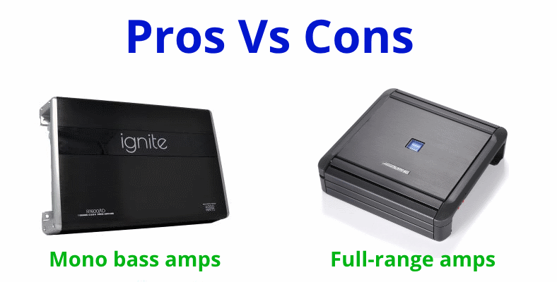 Mono vs full range car amps pros and cons
