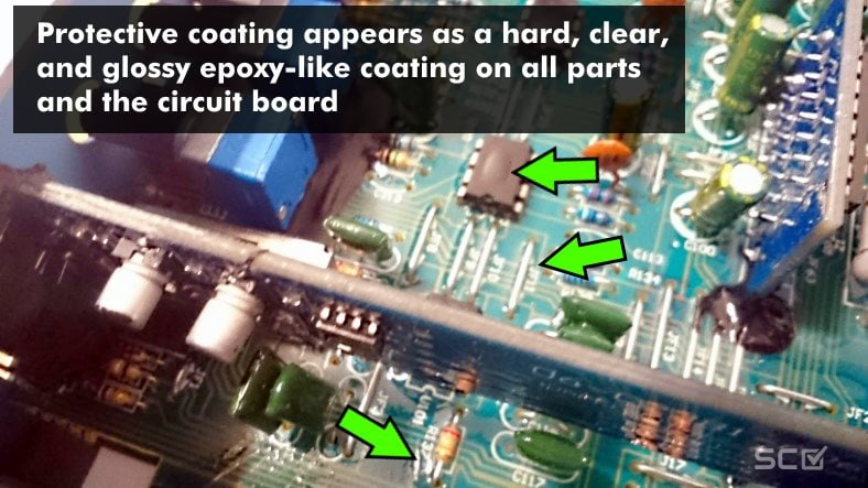 Marine amp conformal coating illustrated example