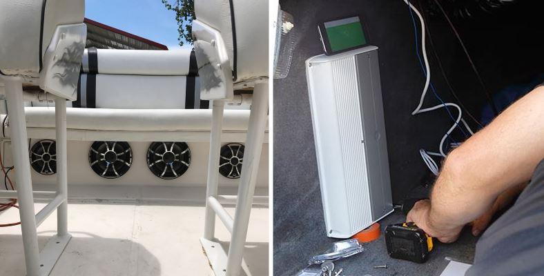 Marine amp installation example image
