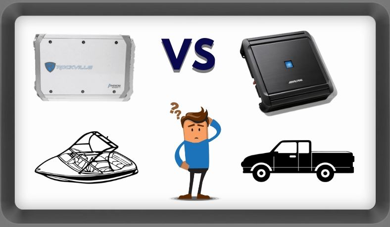 Image of marine vs car amp differences question with confused man