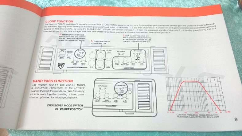Image of Rockville car amp manual clone function instructions