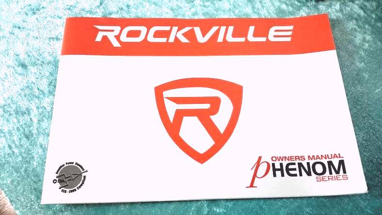 Image of the front cover of the Rockville Phenom car amp front cover