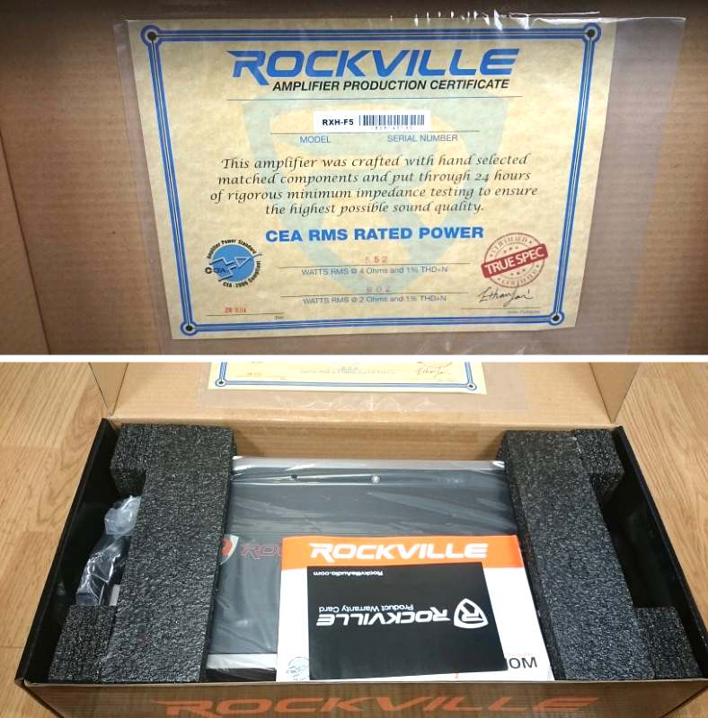 Image showing unboxing the Rockville RXH-F5 amplifier