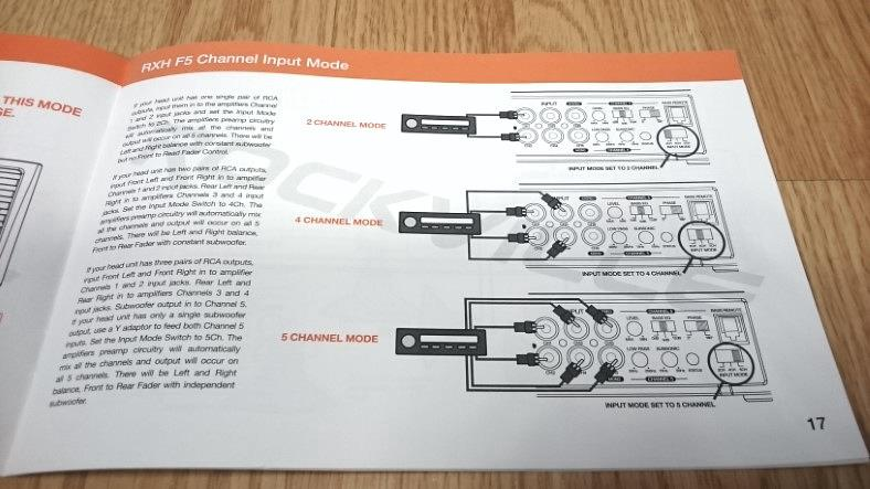 Rockville RXA-F5 5 channel amp owners manual example 1