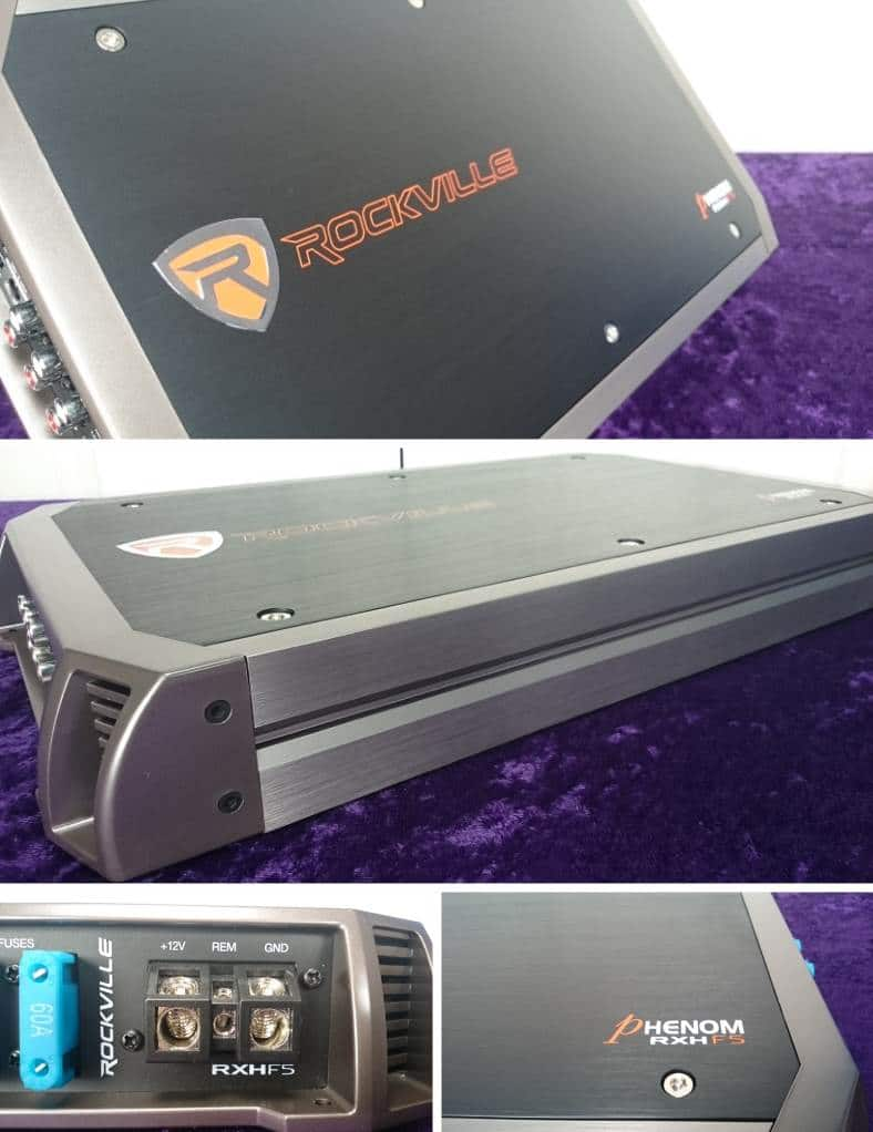 Closeup images of Rockville RXH-F5 amp