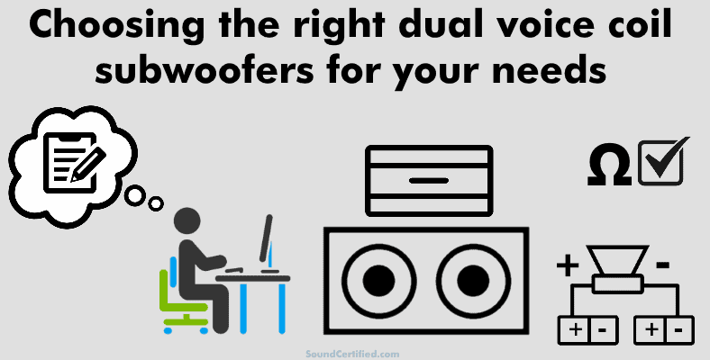 Choosing the right dual voice coil subwoofer