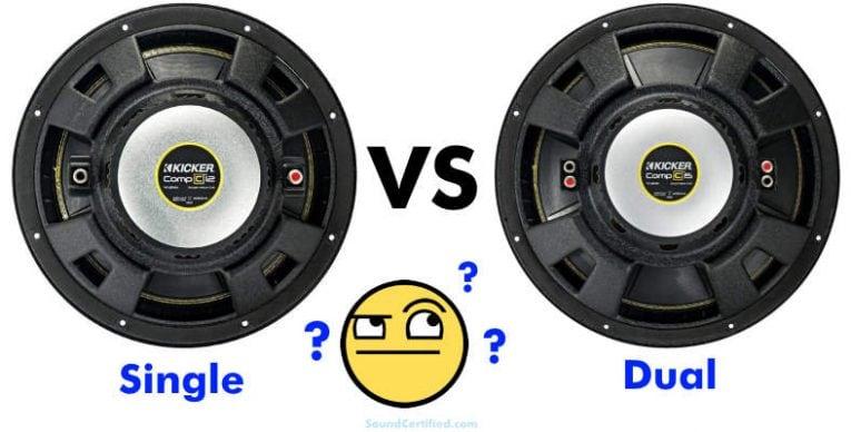 Single vs dual voice coil subwoofer comparison article section image