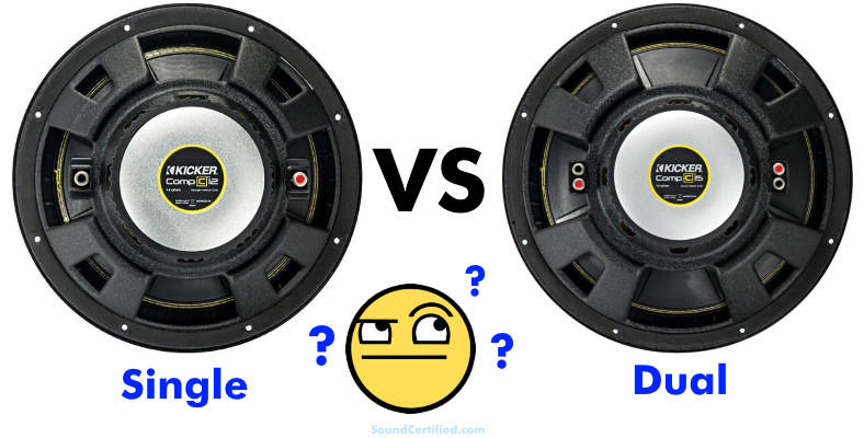 Single vs dual voice coil subwoofer comparison article section image