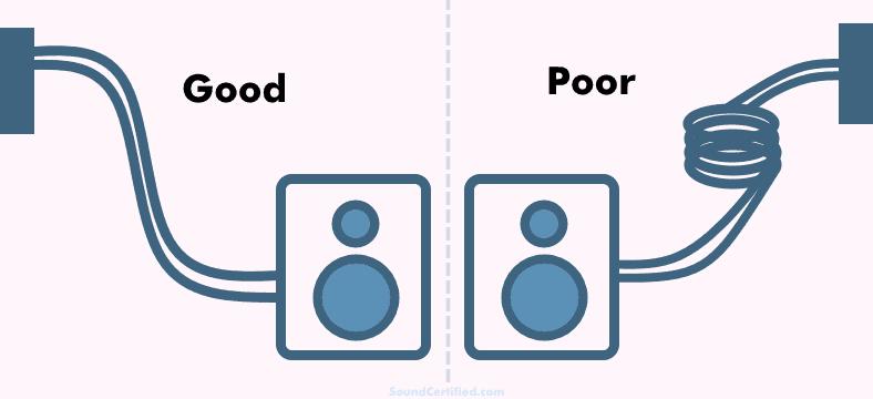 Straight vs coiled speaker wire comparison