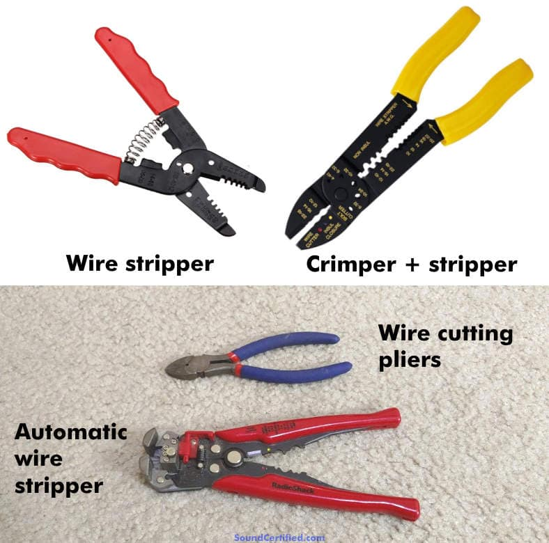 Wire stripper tool examples