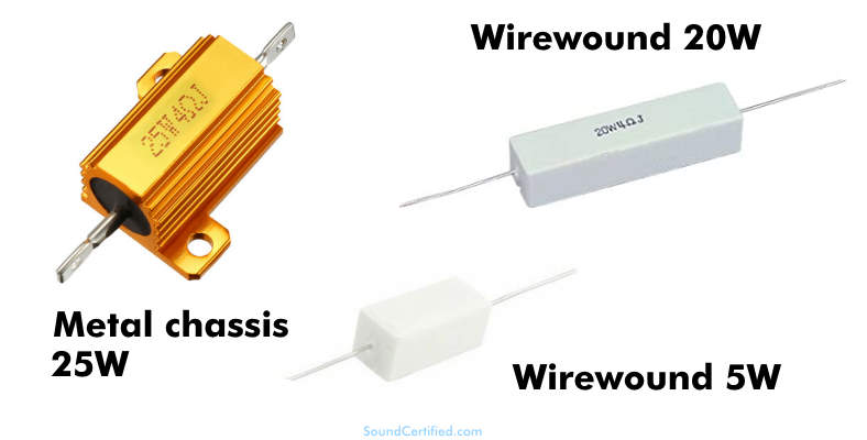 Audio power resistor examples