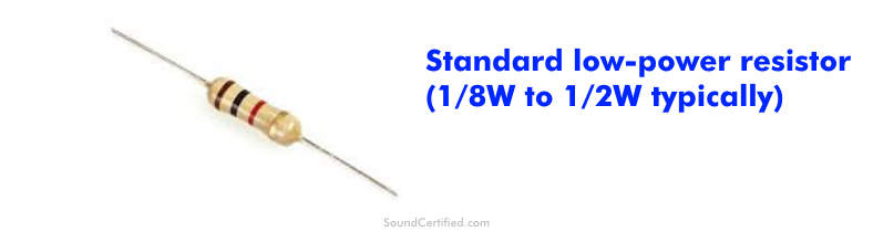 Example of standard electronic axial resistor