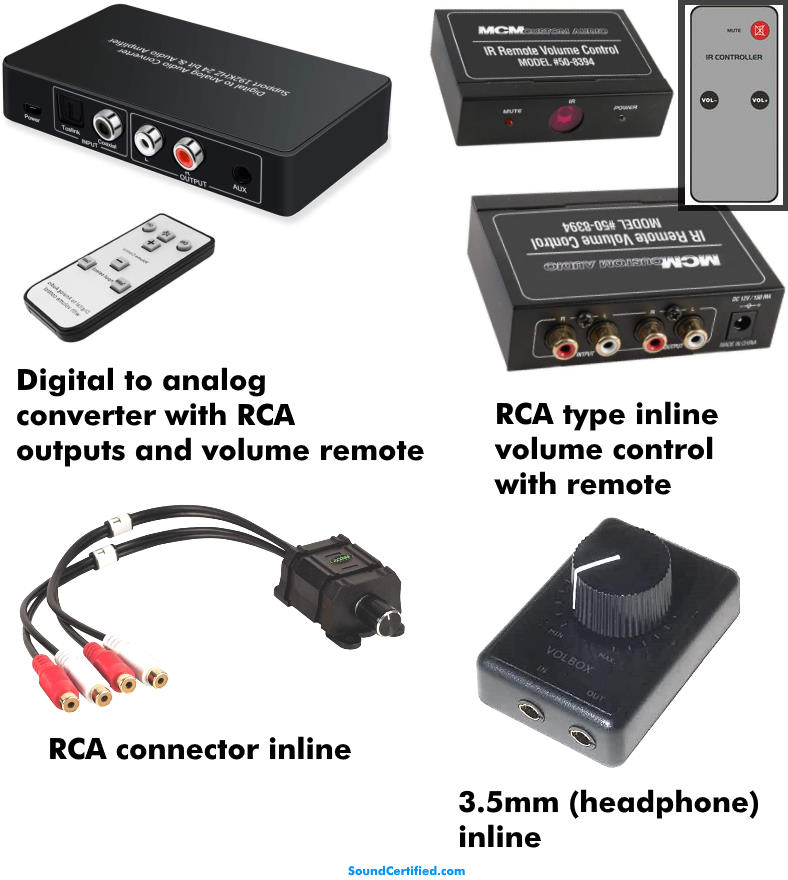 TV audio output volume control solution examples