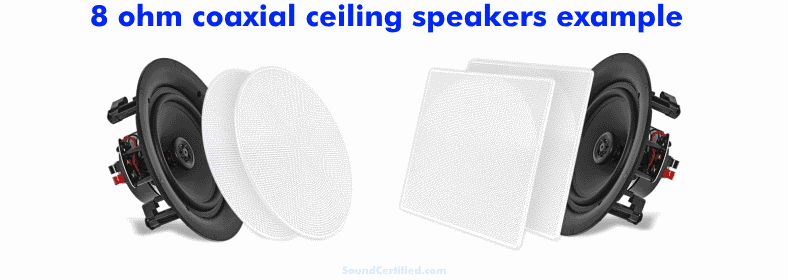 8 ohm coaxial ceiling speakers example