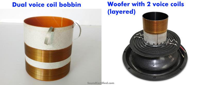 Dual voice coil speaker bobbin examples