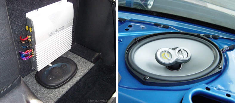Image of 6x9 speakers and car amplifier