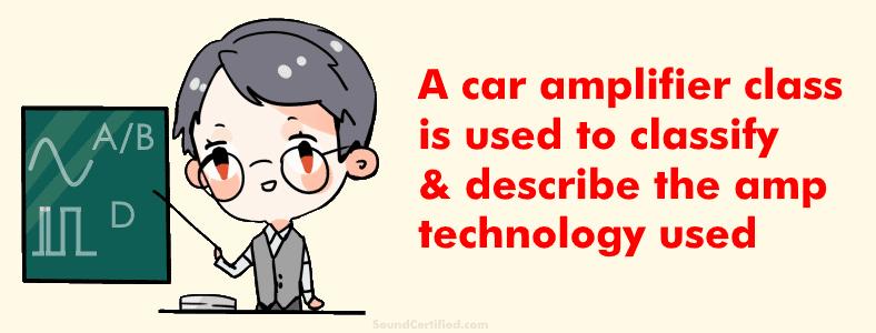 Teacher discussing car amplifier classes
