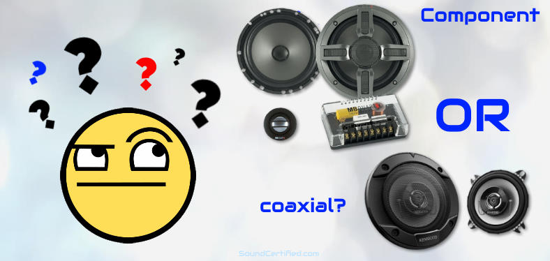 Coaxial or component speakers image