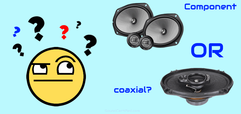 Component vs coaxial 6x9 speakers image
