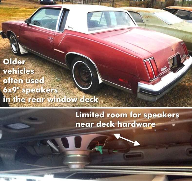 Example of older car with 6x9 speakers