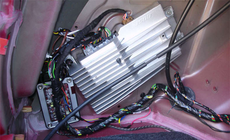 Image of a Bose factory installed car amplifier